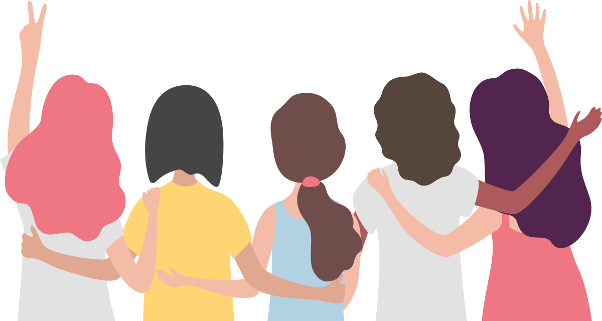 Refer A Friend Program Illustration with woman together